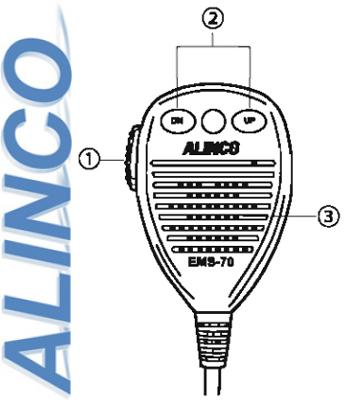 PRESS—TO—TALK—MICROPHONE ALINCO DR-135 CB NEW